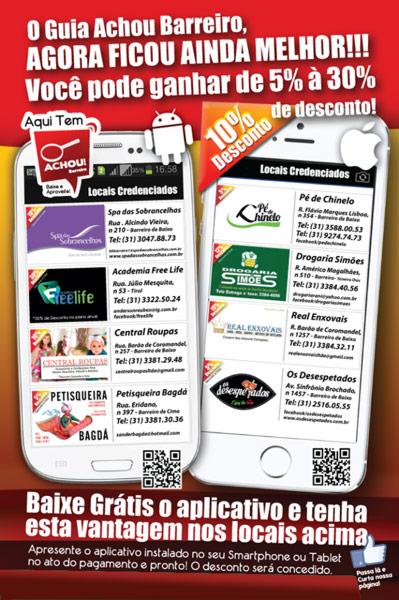 Panfleto de anúncio do App Guia Comercial