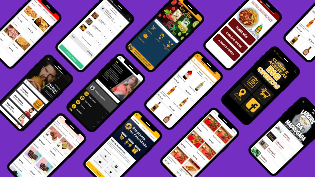 Vendas de apps - vários modelos de como criar apps fabapp