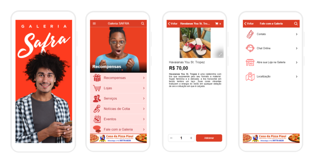 apps para galerias e shoppings